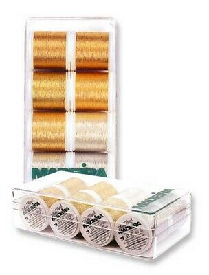 Madeira 8014 | Assorted Heavy Metal Shades Machine Embroidery Thread | 200m x 8