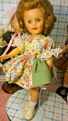 "SSO DOLL CLOTHES RETRO PRINT DRESS for 14"" P-90 TONI/ HONEY/15"" SHIRLEY/SWEETSUE"