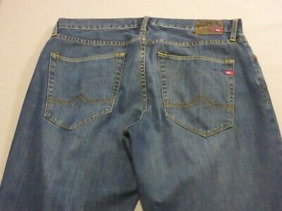 059 Mens Ex-Cond Quiksilver Relaxed Fit Blue Wash Jeans Sze 36 / -- L $110 Rrp.