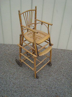 59162 Antique Collapsible High Chair Stroller