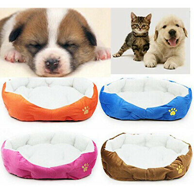 Soft Pet Dog Cat Indoor Bed Puppy Cushion House Warm Kennel Mat Blanket Washable