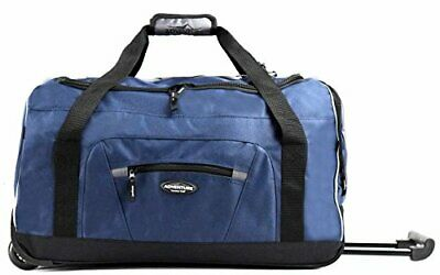 "Travelers Club 22"" Adventure by Luggage 2-Tone Multi-Pocket(Navy and Gray)"