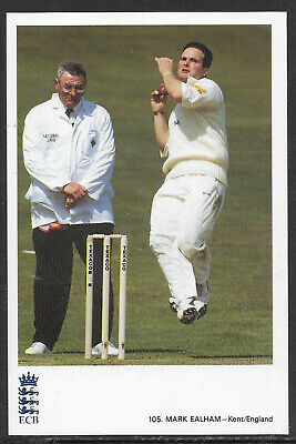 MARK EALHAM (KENT/ENGLAND) - ECB CRICKET POSTCARD No. 105