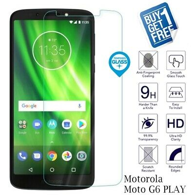 2 x For Motorola Moto G6 Play Genuine Tempered Glass Screen Protector Film Cover