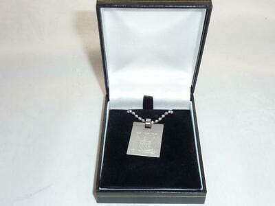 Manchester City Football Club Silver Plated Necklace Chain & Dog Tag Pendant