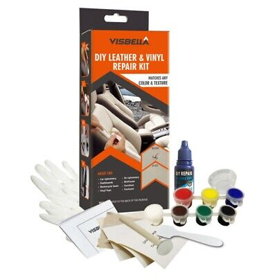 DIY Visbella Leather and Vinyl Repair Kit Fix Holes Rips Upholstery Clothing