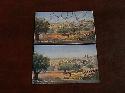 ORIGINAL TUCK JIGSAW PUZZLE NOVELTY POSTCARD - HOLY LAND No. 7786.