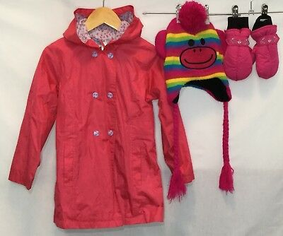 Girls Rain Coat 5 Pumpkin Patch <H1904