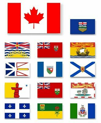 Canada Canadian National state provinces Flags 5ftx3ft Single Country