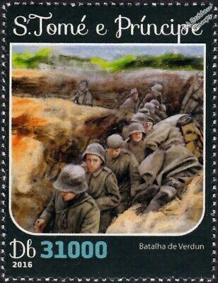 WWI 1916 BATTLE OF VERDUN Trench Warfare / German Army Soldiers Stamp
