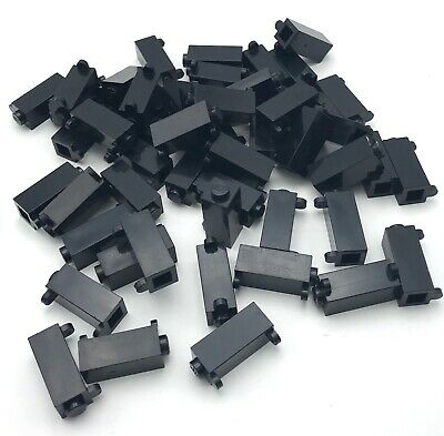 LEGO Black Plate Modified 1x2 Clip on Top Lot of 100 Parts Pieces 92280