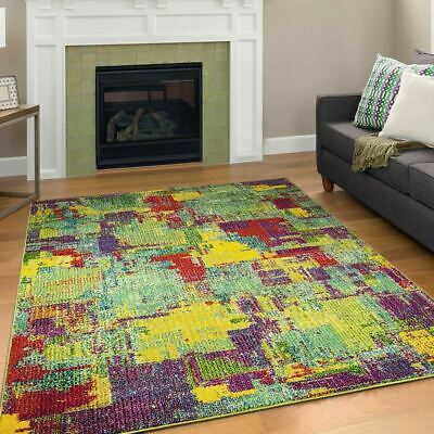 Large Colourful Living Room Modern Geometric Rugs Colourful Area Carpet Runners