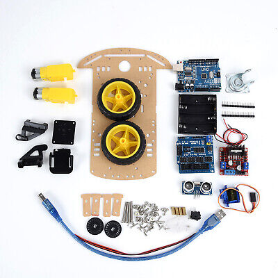 Avoid Tracking Motor Smart Robot Car Chassis Kit Set 2WD Ultrasonic For Arduino