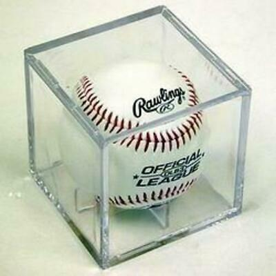 Baseball Square Cube Holder Display Case with Built in Stand