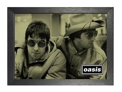 Oasis 8 English Rock Band Poster Gallagher Music Star Photo Black White Glasses