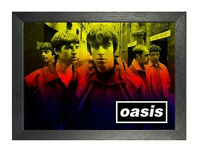 Oasis 15c English Rock Band Poster Gallagher Music Star Photo Glasses Picture