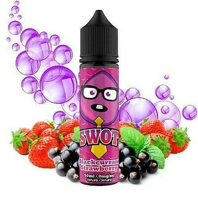 E-liquid SWOT Blackcurrant Strawberry 50ml - 0mg + Nicokit HALO 10ml 20mg