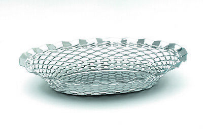 Naan Basket Poppadom Bread Roti Stainless Steel Serving Oval Round Hot Towel
