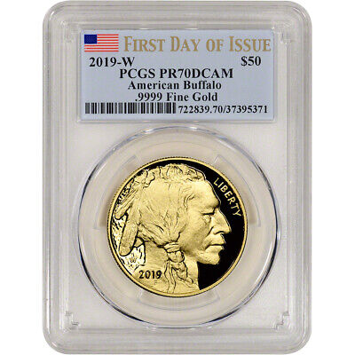 2019-W American Gold Buffalo Proof 1 oz $50 - PCGS PR70 DCAM First Day of Issue