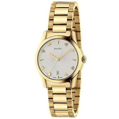 6e191e90940 New Gucci G-Timeless Silver Dial Stainless Steel Women s Watch YA126576