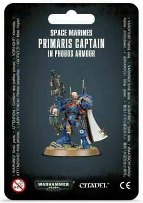 Warhammer 40K Space Marines Captain in Phobos Armor Primaris Vanguard Marine