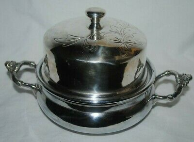 Columbia Silver Co. quadruple silverplate covered butter dish, vintage #K3845