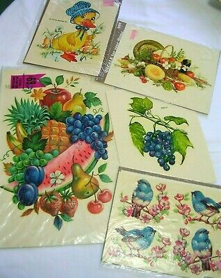 Vintage Meyercord Decals For Your Home Lot Of 5 Assorted Packages
