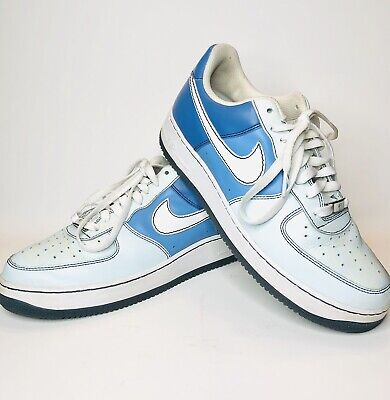 sports shoes b0d82 85eae 2007 Nike AIR FORCE 1 '07 NORTH PHILLY DIAMOND GLACIER BLUE WHITE 11