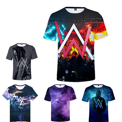 1230881c7 Alan Walker 3D Print T-shirt Men's DJ Music Short Sleeves Tee Shirt Summer  Top
