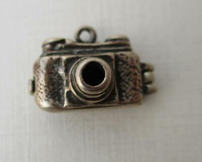 Vintage Sterling Silver English CAMERA opens to BIRD Charm
