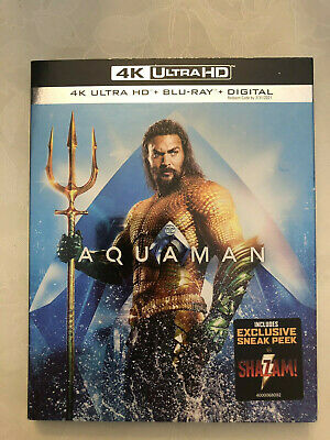 Aquaman 2019 4K Ultra HD (Blu Ray + Digital ) Brand NEW with Slipcover