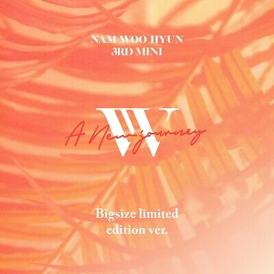 NAM WOO HYUN - A New Journey Big Size Limited Edition CD+Photocard+Poster