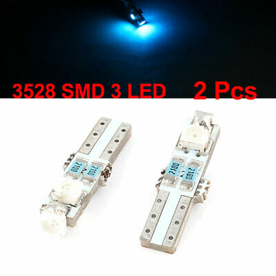 2 x T5 58 73 74 Dashboard Gauge 3528 SMD 3 Blue LED Wedge Canbus Light Internal