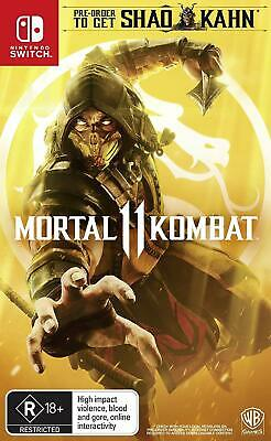 Mortal Kombat 11 Nintendo Switch Brand New Sealed