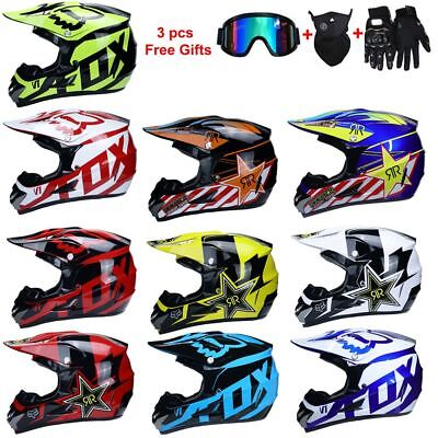 Motorcycle Helmet Motorbike Mountain Bike DH CQR Crash Mountain ATV with Goggle