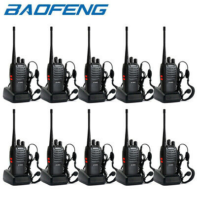 10 Pack BaoFeng BF-666S UHF 400-470MHz Walkie Talkie Two Way Radio Handhled 5W