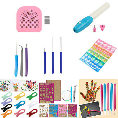 Multi Stripes Quilling Paper Origami Tool Kits Needle Pen For DIY Craft Decor
