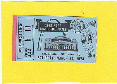 1973 NCAA Men's Basketball Finals Ticket Stub UCLA/Memphis St FREE INSURED SHIP