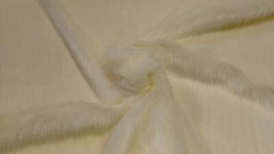 Super Luxury Faux Fur Fabric Material - LONG PILE IVORY