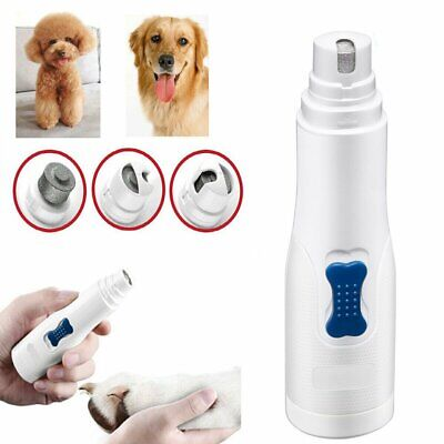 Electric Clipper Dog Paws Nail Trimmer Grinder Grooming Tool For Pet Dog Cat US