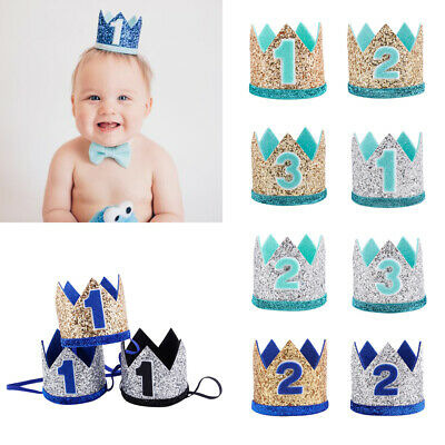 Elastic Baby Birthday Hat Crown Hair Band Floral Headwear Party Headdress