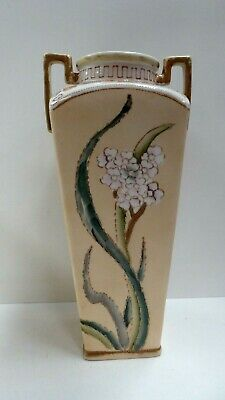 Royal Nippon Antique Pottery Ceramic Hand Painted Mantle Vase
