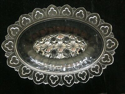 "EAPG Serving Dish, ""Orion Thumbprint"" w/ Daisy&Button, Canton Glass Co. c.1894"