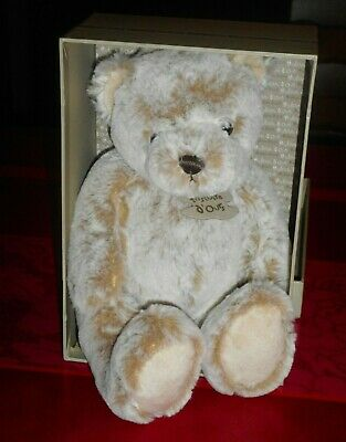 Doudou Peluche Z'Animoos Ours Beige Histoire D'Ours 20 cms HO2036 Neuf