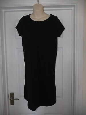 Ladies Black Stretchy Mothercare Blooming Marvellous Dress Size 12 Versatile