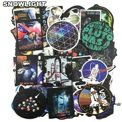 50PCS Outer Space Sticker UFO Alien Astronaut Rocket Cartoon Stickers Gifts Toys