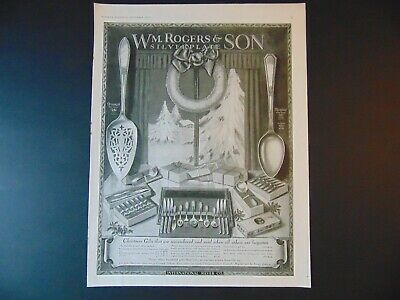 1926 Wm ROGERS & SON Silver plate patterns print ad