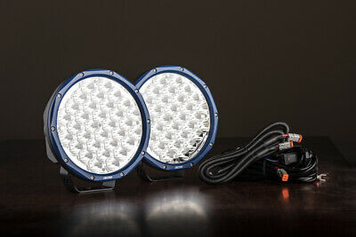 "New 9"" Osram Driving Lights LED Round Spot pair Offroad Spotlights SUV"
