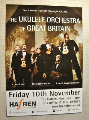 The Ukelele Orchestra Of Great Britain -- A5 Flyer-2017 Hafren Theatre, Wales