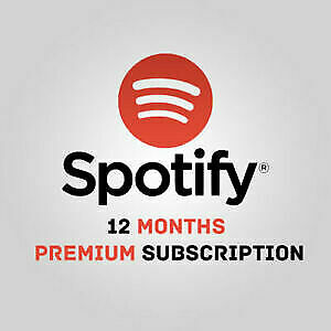 Spotify Premium 12 Months Worldwide See Description Music